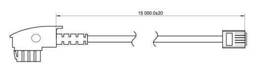 Telefon (analog) Anschlusskabel [1x TAE-F-Stecker - 1x RJ11-Stecker 6p4c] 15 m Schwarz