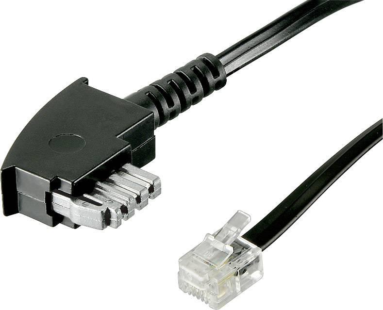 InLine Intos Telefonkabel-RJ12 Verl/ängerungskabel RJ12//Stecker-RJ12//Buchse flach schwarz 10.00 m