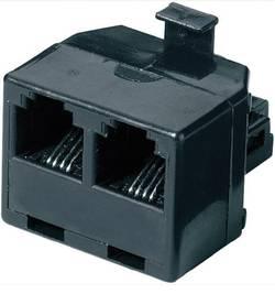ISDN Y adaptér, AWG rovný, černá, 1x RJ11 (M) 6p4c / 2x RJ11 (F) 6p4c