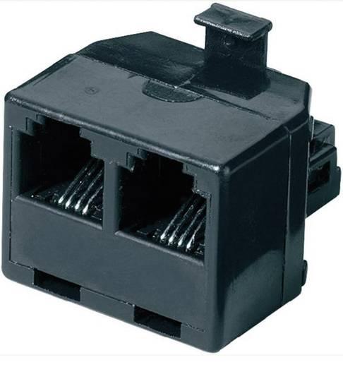 Western Y-Adapter [1x RJ11-Stecker 6p4c - 2x RJ11-Buchse 6p4c] 0 m Schwarz