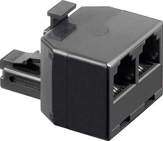 Western Y-Adapter [1x RJ11-Stecker 6p4c - 2x RJ11-Buchse 6p4c] Schwarz