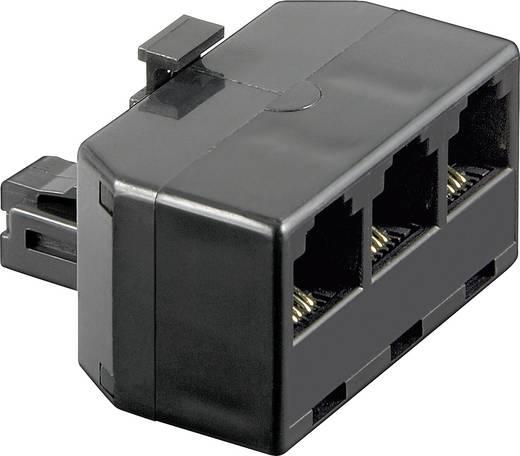Western Y-Adapter [1x RJ11-Stecker 6p4c - 3x RJ11-Buchse 6p4c] 0 m Schwarz