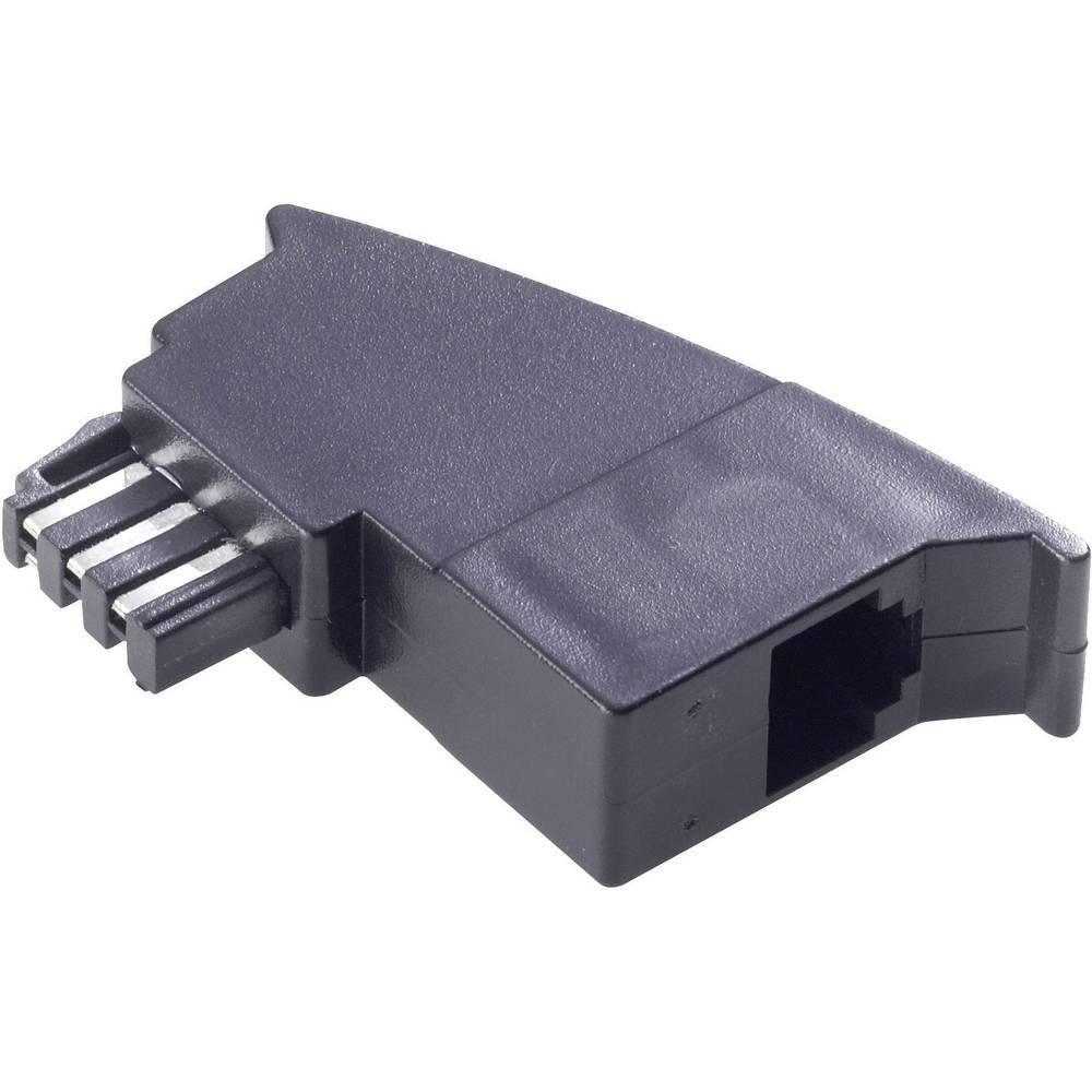 telefon analog adapter 1x tae f stecker 1x rj11 buchse 6p4c 0 m schwarz im conrad online. Black Bedroom Furniture Sets. Home Design Ideas