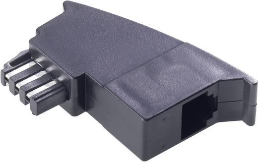 telefon analog adapter 1x tae f stecker 1x rj11 buchse 6p4c 0 m schwarz kaufen. Black Bedroom Furniture Sets. Home Design Ideas
