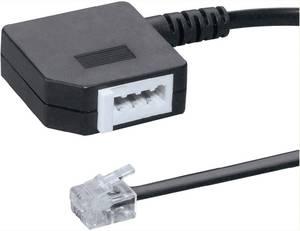 Kupplung schwarz 6P4C Adapter TAE-F auf RJ11