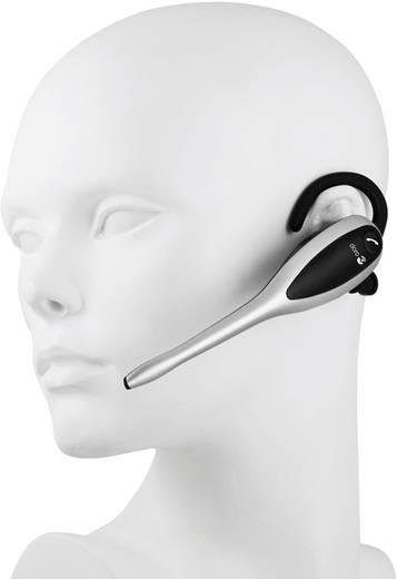 Telefon-Headset DECT schnurlos, Mono doro HS1910 In Ear Silber, Schwarz