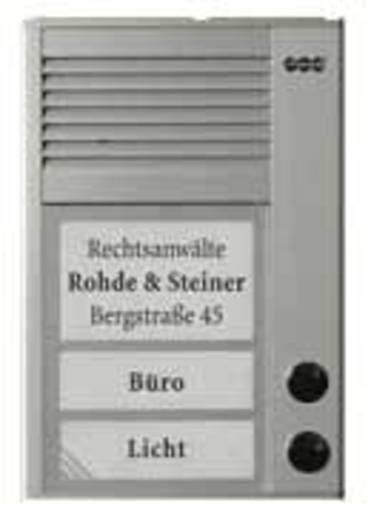 Auerswald 90635 Türsprechanlage Kabelgebunden Komplett-Set 2 Familienhaus Silber