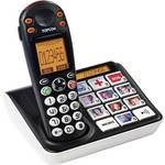 Téléphone sans fil pour séniors Topcom Sologic B935 touches photo, signal d'appel optique écran éclairé noir, blanc