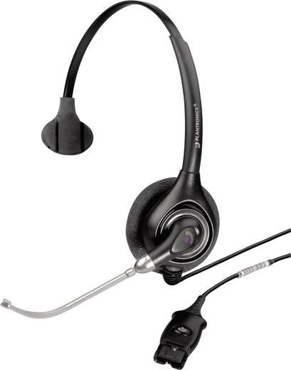 Telefon-Headset QD (Quick Disconnect) schnurgebunden, Mono Plantronics HW251/A On Ear Schwarz