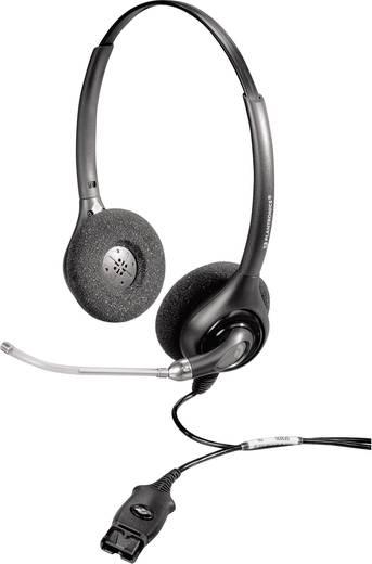 Telefon-Headset QD (Quick Disconnect) schnurgebunden, Stereo Plantronics HW261/A SupraPlus On Ear Schwarz