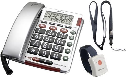 Schnurgebundenes Seniorentelefon Amplicomms BIGTEL 50 Alarm Plus Optische Anrufsignalisierung, Freisprechen Beleuchtetes
