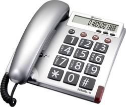 Image of Schnurgebundenes Seniorentelefon Amplicomms BigTel 48 Optische Anrufsignalisierung Matt Silber, Grau