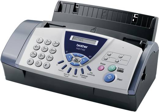 Brother Fax-T102 Thermotransfer-Faxgerät Sende- /Empfangsspeicher 25 Seiten