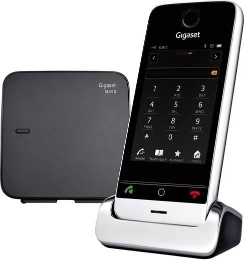 Schnurloses Telefon analog Gigaset SL910 Headsetanschluss, Bluetooth, Touchscreen Edelstahl, Schwarz