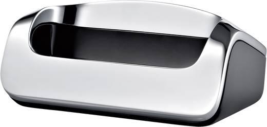 Schnurloses Telefon analog Gigaset SL910A Anrufbeantworter, Touchscreen Edelstahl, Schwarz