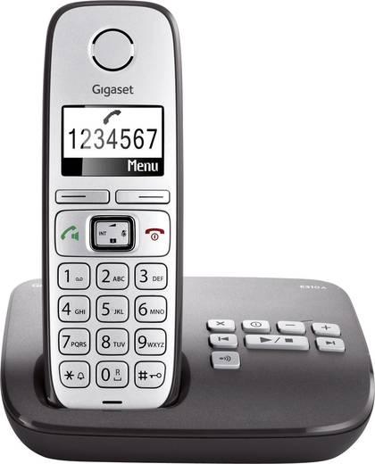 Schnurloses Seniorentelefon Gigaset E310 A Anrufbeantworter Beleuchtetes Display Silber, Anthrazit