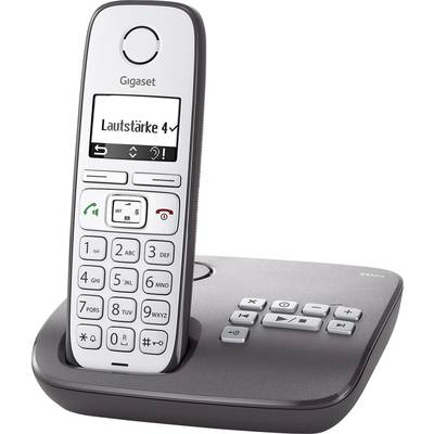 Gigaset E310A Schnurloses Seniorentelefon Anrufbeantworter Beleuchtetes Display Silber, An Preisvergleich
