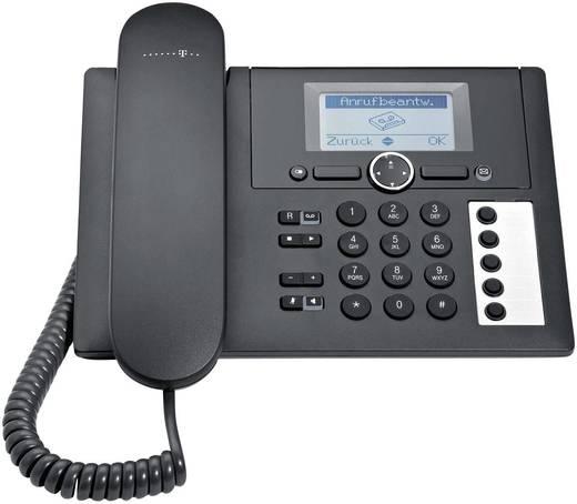 Schnurgebundenes Telefon, analog Telekom Concept PA 415 Anrufbeantworter, Freisprechen Beleuchtetes Display Schwarz