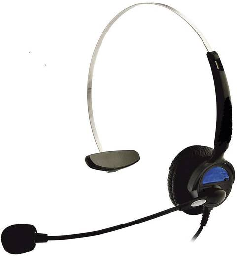 Telefon-Headset RJ10-Buchse schnurgebunden, Mono KJ-97 On Ear Schwarz