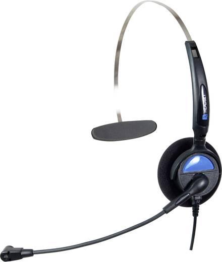 Telefon-Headset RJ10-Buchse schnurgebunden, Mono Basetech KJ-97 On Ear Schwarz