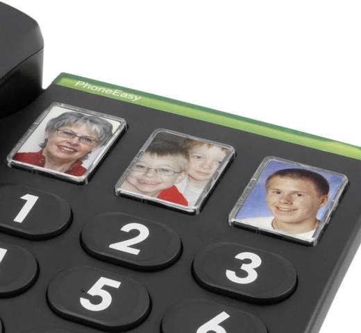 Schnurgebundenes Seniorentelefon doro PhoneEasy 331ph Foto-Tasten kein Display Schwarz