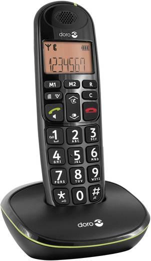 Schnurloses Seniorentelefon doro PhoneEasy 100w Optische Anrufsignalisierung Beleuchtetes Display Schwarz