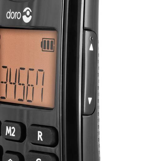 Schnurloses Seniorentelefon doro PhoneEasy 100w Duo schwarz Optische Anrufsignalisierung Beleuchtetes Display Schwarz