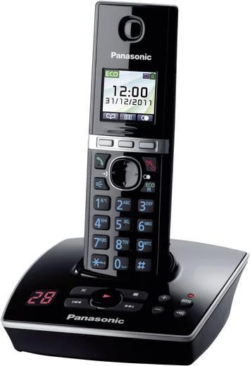 Panasonic KX-TG8061 Schnurloses Telefon analog Anrufbeantworter, Headsetanschluss Schwarz, Silber