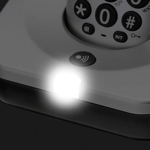 Schnurloses Seniorentelefon Amplicomms BigTel 280 Anrufbeantworter Beleuchtetes Display Silber, Schwarz