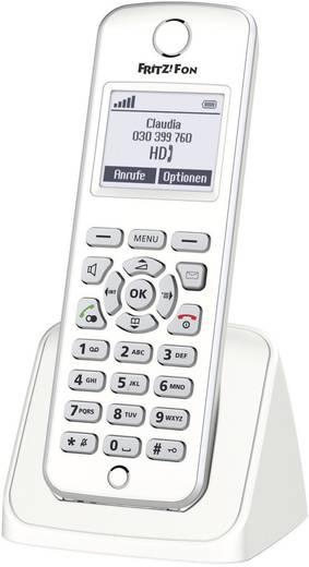 Schnurloses Telefon VoIP AVM FRITZ!Fon M2 für FRITZ!Box Babyphone, Freisprechen Beleuchtetes Display Weiß, Silber