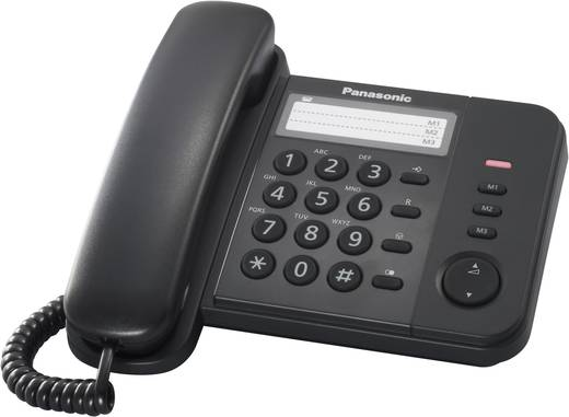 Panasonic KX-TS520GB Schnurgebundenes Telefon, analog kein Display Schwarz