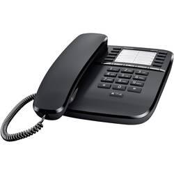 Šňůrový telefon, analogový Gigaset DA510 bez displeje černá