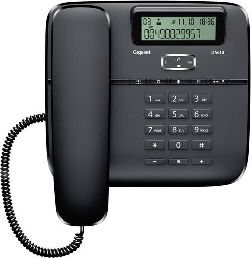 Schnurgebundenes Telefon, analog Gigaset DA610 Freisprechen Matt Schwarz