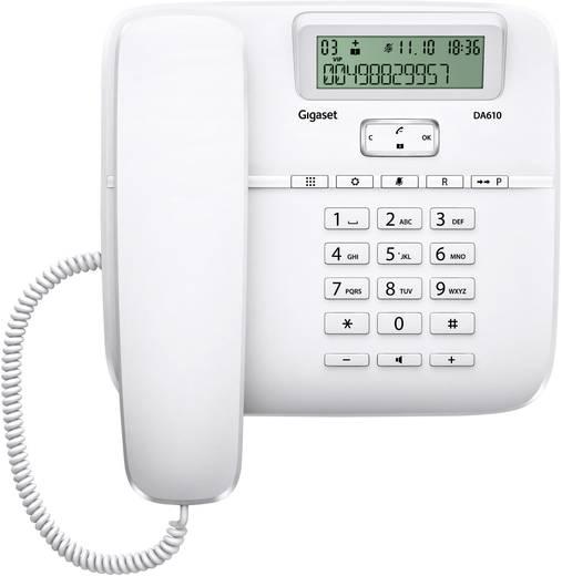 Schnurgebundenes Telefon, analog Gigaset DA610 Freisprechen Matt Weiß