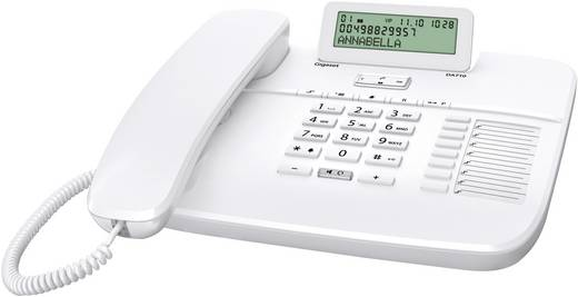 Schnurgebundenes Telefon, analog Gigaset DA710 Headsetanschluss, Freisprechen Matt Weiß