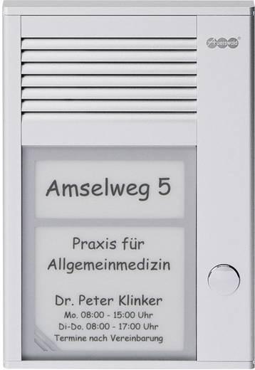 Türsprechanlage Kabelgebunden Komplett-Set Auerswald 90617 1 Familienhaus Silber