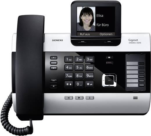 Systemtelefon, ISDN Gigaset DX600A Anrufbeantworter, Bluetooth Farbdisplay Silber, Schwarz