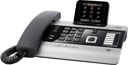 Systemtelefon, analog Gigaset DX800A all in one Anrufbeantworter, Bluetooth, Headsetanschluss Farbdisplay Titanium