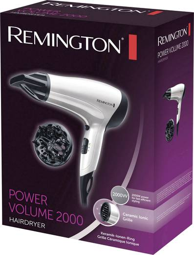Haartrockner Remington Power Volume Ionen-Haartrockner Schwarz