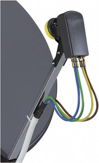 Wittenberg Antennen SAT Anschlusskabel [4x F-Stecker - 1x F-Stecker] 16 m 100 dB Weiß