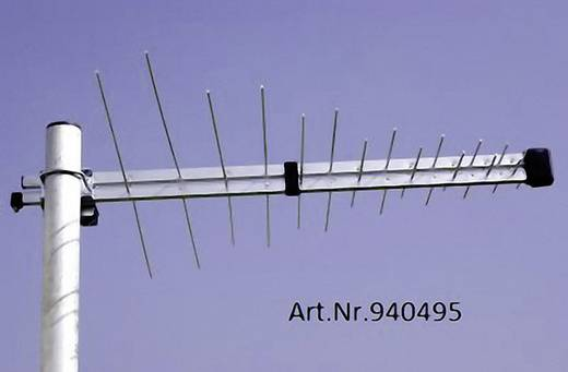 Aktive DVB-T/T2-Dachantenne Wittenberg Antennen WB345 Plus Außenbereich Verstärkung=20 dB Silber