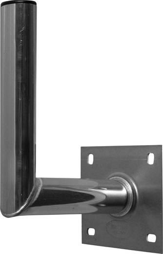 SAT-Wandhalterung A.S. SAT 10025 Wandabstand: 25 cm Passend für Spiegelgröße: Ø bis 90 cm Silber