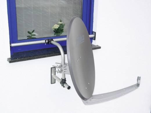 SAT-Fensterhalterung A.S. SAT Passend für Spiegelgröße: Ø bis 75 cm Silber