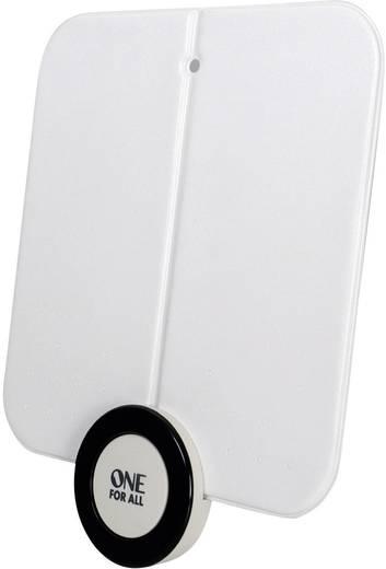 One For All SV 9215 Aktive DVB-T/T2 Flachantenne Innenbereich Verstärkung=41 dB Weiß