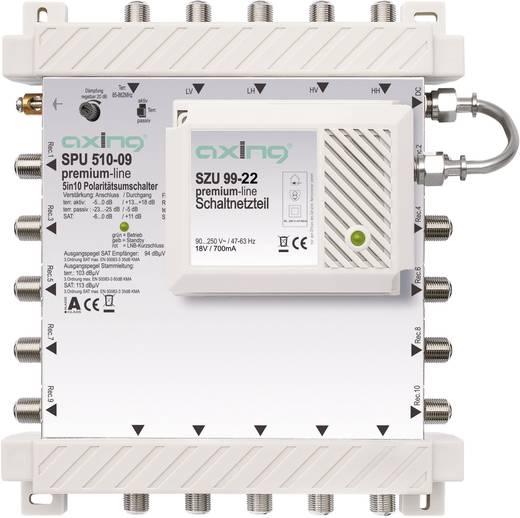 SAT Multischalter Axing SPU 510-09 Eingänge (Multischalter): 5 (4 SAT/1 terrestrisch) Teilnehmer-Anzahl: 10 StandBy-Funk