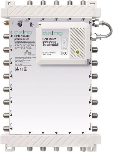 SAT Multischalter Axing SPU 516-09 Eingänge (Multischalter): 5 (4 SAT/1 terrestrisch) Teilnehmer-Anzahl: 16 StandBy-Funk