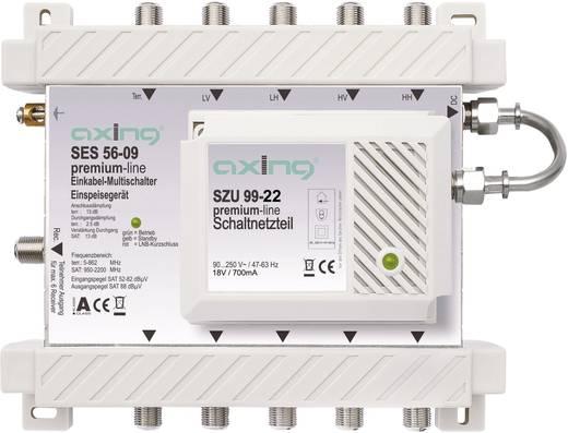 SAT Multischalter Unicable Axing SES 56-09 Eingänge (Multischalter): 5 (4 SAT/1 terrestrisch) Teilnehmer-Anzahl: 6