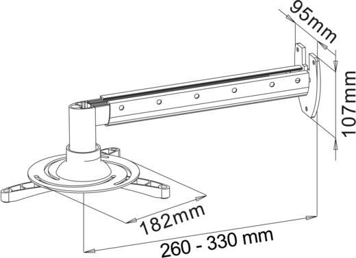 Beamer-Wandhalterung Neigbar Wandabstand (max.): 33.5 cm My Wall H 16-5 Silber (matt)