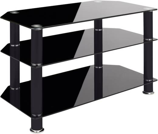 schnepel as linie 80 p hifi rack schwarzglas kaufen. Black Bedroom Furniture Sets. Home Design Ideas
