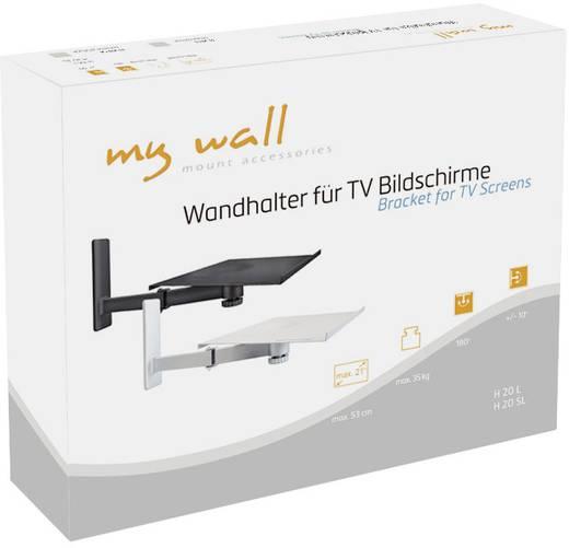 TV-Wandhalterung für Notebooks, Lautsprecherboxen und TVs Neigbar+Schwenkbar My Wall H 20 SL